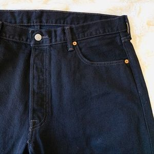 NWOT Levi's 501 Black Denim Jeans Button Fly 36